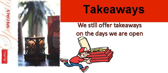 Our restaurants may be closed but we are taking takeaway orders from Hampton